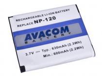 Casio NP-120 Li-Ion 3.6V 630mAh 2.3Wh