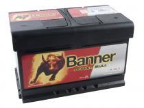 Autobaterie Banner 12V 72Ah (P7209) - Power Bull (startovací proud 660A) (technologie Ca/Ca) (doprava Toptrans/osobní odběr)