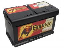 Autobaterie Banner 12V 80Ah (58001) - Running Bull (startovací proud 800A) (doprava Toptrans/osobní odběr)