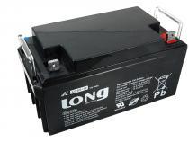 Long 12V 65Ah olověný akumulátor DeepCycle GEL F4 (LG65-12)