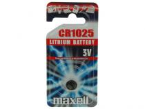 Nenab�jec� knofl�kov� baterie CR1025 Maxell Lithium 1ks Blistr