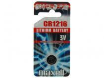 Nenabíjecí knoflíková baterie CR1216 Maxell Lithium 1ks Blistr