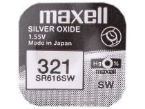 Nenabíjecí knoflíková baterie 321 Maxell Silver Oxide 1ks Blistr