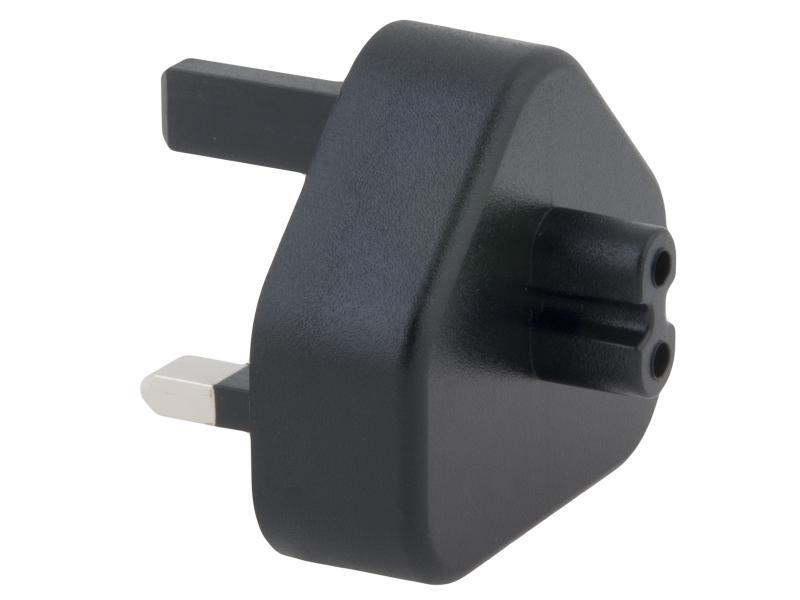 Zásuvkový konektor Typ G (UK) pro USB-C nabíječky, černá
