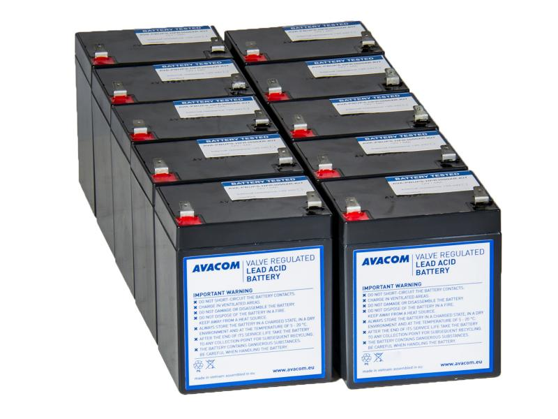 Náhradní baterie pro UPS HP Compaq R3000 XR - kit (10ks baterií)