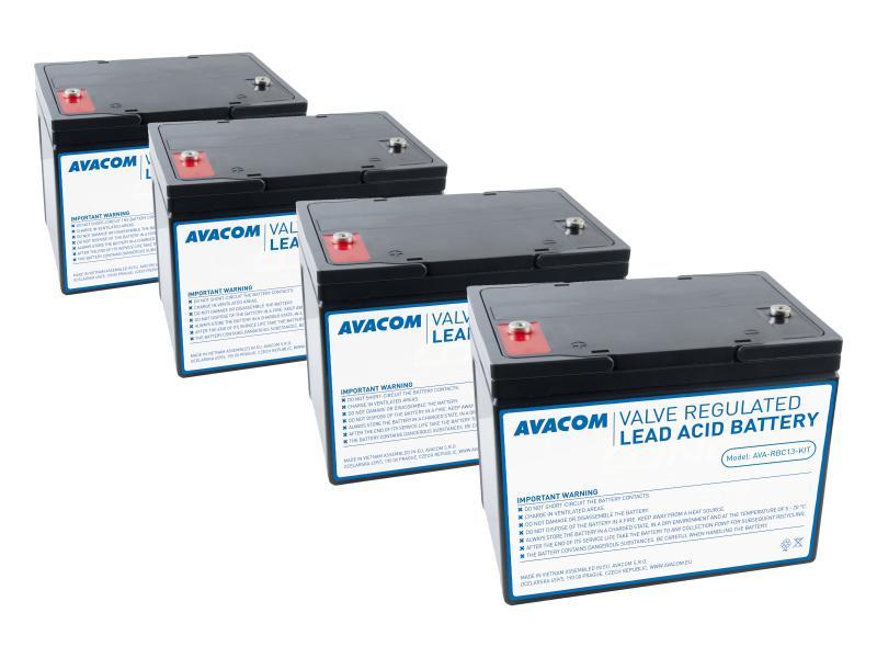AVACOM bateriový kit pro renovaci RBC13 - baterie pro UPS (4ks baterií)