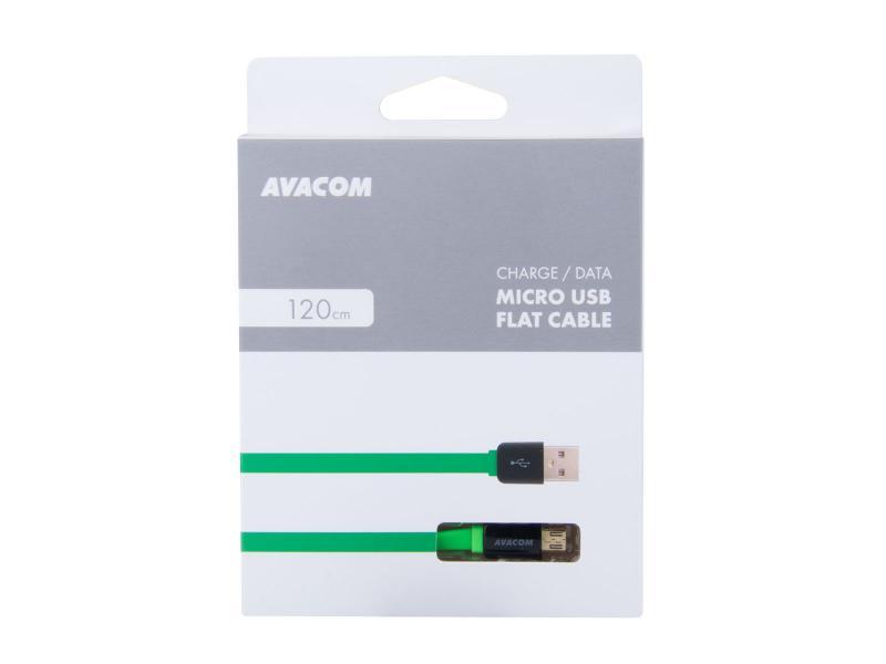 AVACOM MIC-120G kabel USB - Micro USB, 120cm, zelená