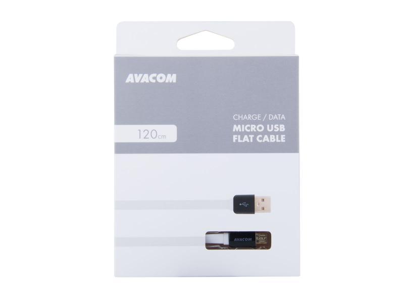 AVACOM MIC-120W kabel USB - Micro USB, 120cm, bílá