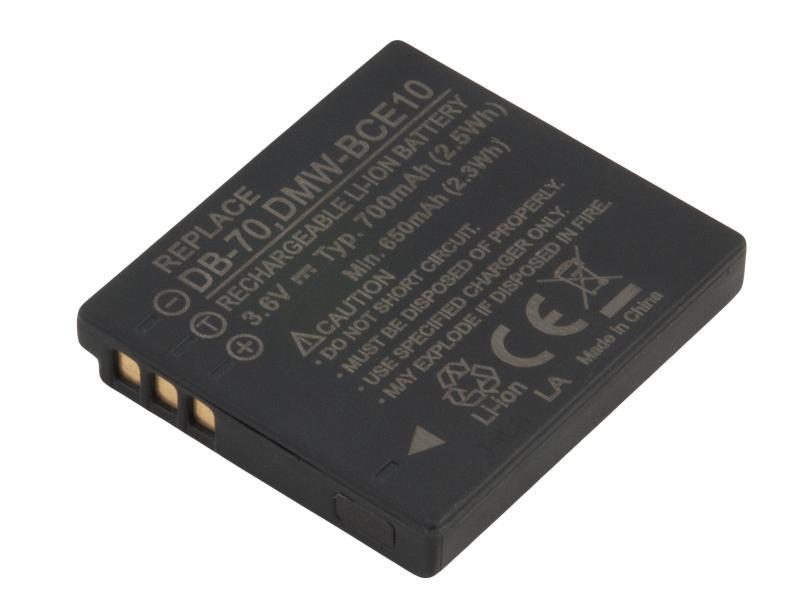 Panasonic CGA-S008E, DMW-BCE10, VW-VBJ10 Li-Ion 3.6V 700mAh 2.5Wh