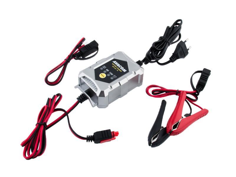 Automatická nabíječka AVACOM 6V/12V 1A pro olověné AGM/GEL akumulátory (1,2 - 24Ah)