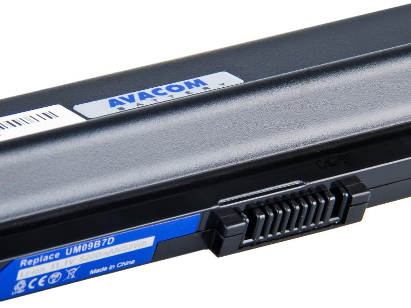 Acer Aspire One 531, 751 series Li-Ion 11,1V 5200mAh 58Wh black