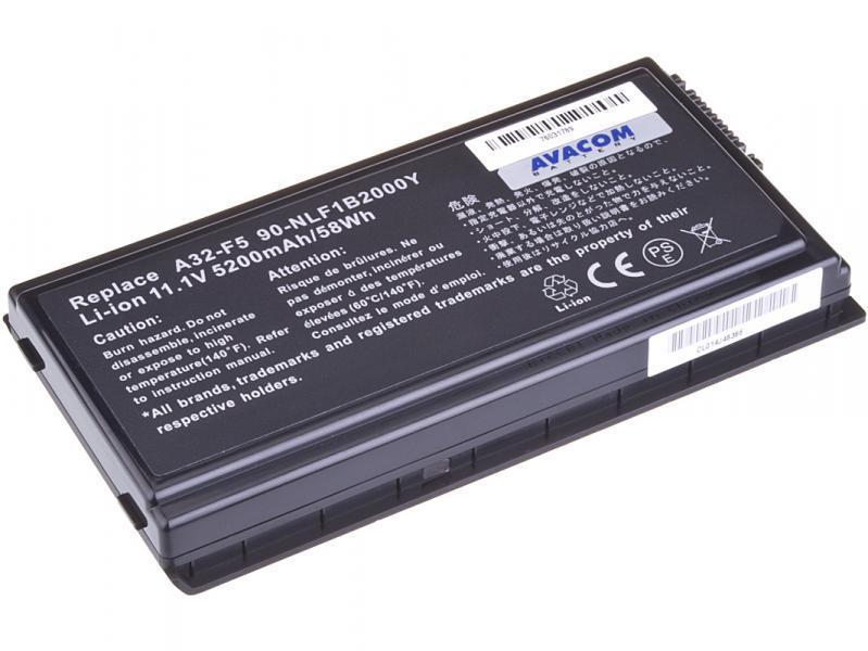 Asus F5 series A32-F5 Li-Ion 11,1V 5200mAh 58Wh