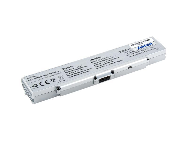 Sony VGN-AR520/SZ61, VGP-BPS9, VGP-BPS10 Li-Ion 11,1V 5200mAh/58Wh silver