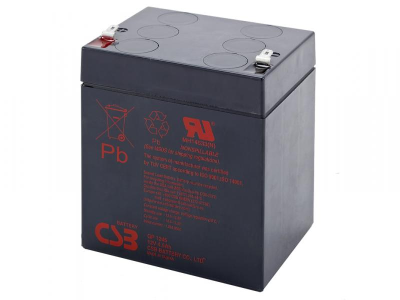 CSB 12V 4,5Ah olověný akumulátor F1 (GP1245)