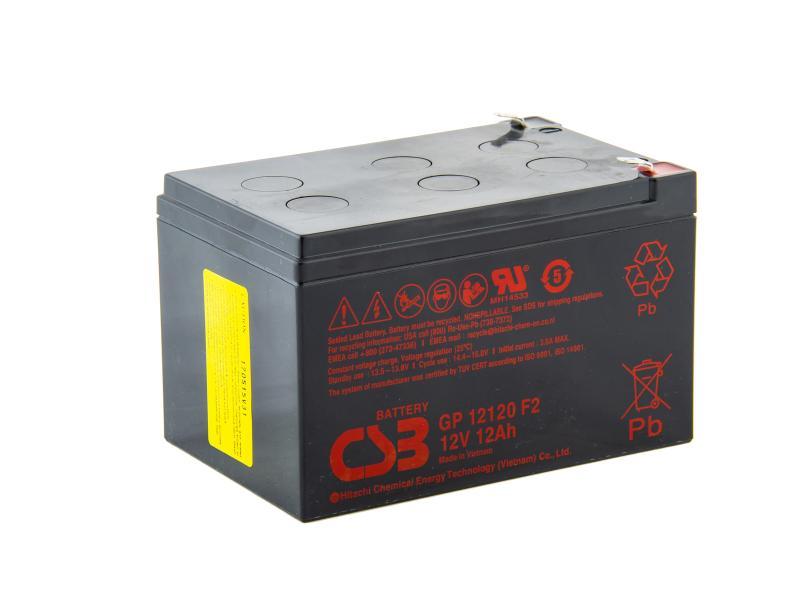 CSB 12V 12Ah olověný akumulátor F2 (GP12120F2)