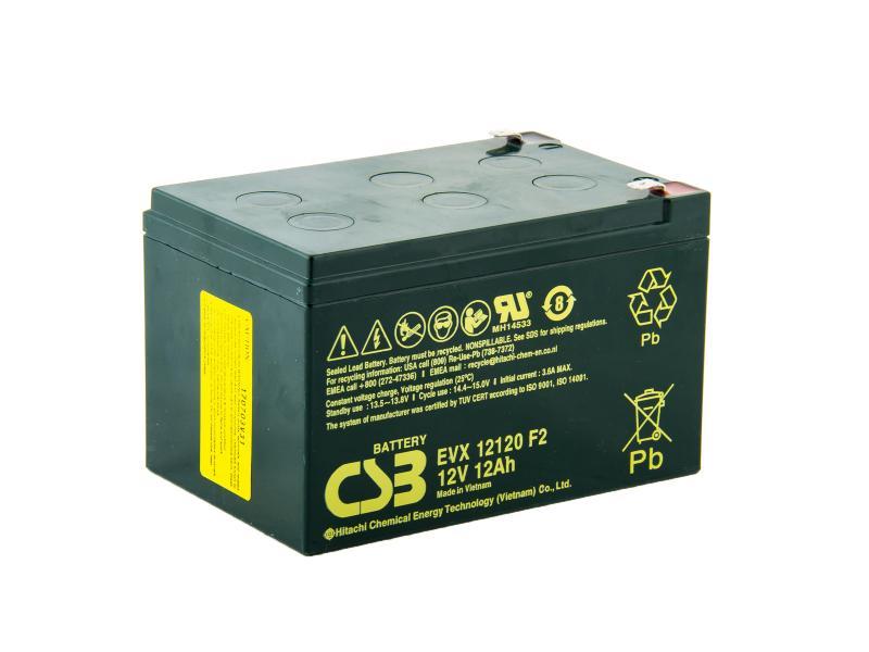 CSB 12V 12Ah olověný akumulátor DeepCycle AGM F2 (EVX12120F2)