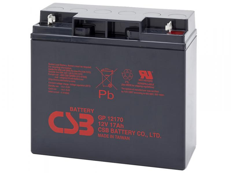 CSB 12V 17Ah olověný akumulátor M5 (GP12170)