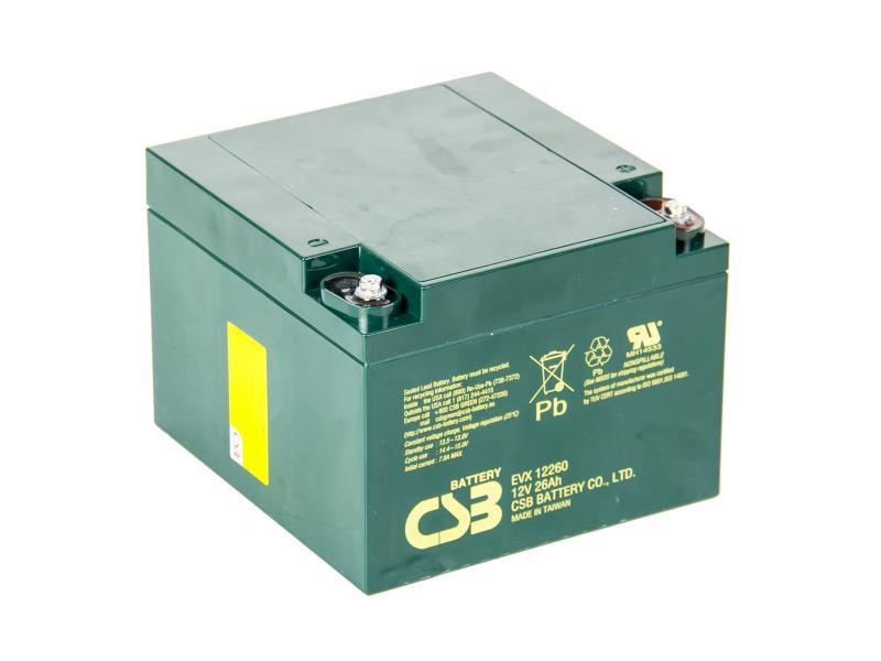 CSB 12V 26Ah olověný akumulátor Deep Cycle M5 (EVX12260I)