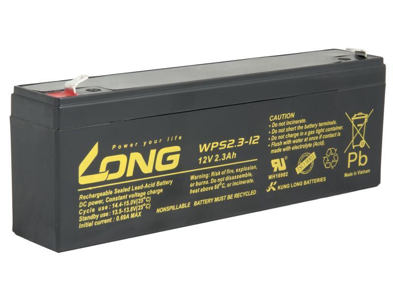 Long 12V 2,3Ah olověný akumulátor F1 (WPS2.3-12)