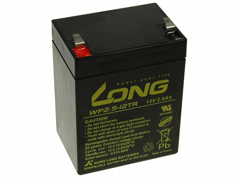 Long 12V 2,9Ah olověný akumulátor F1 (WP2,9-12TR)
