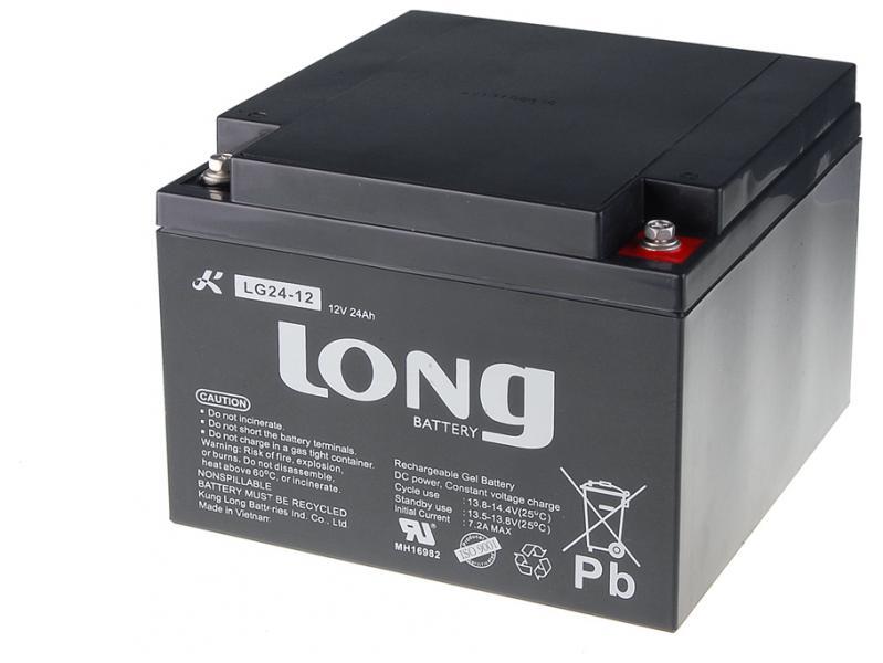 Long 12V 24Ah olověný akumulátor DeepCycle GEL F3 (LG24-12)