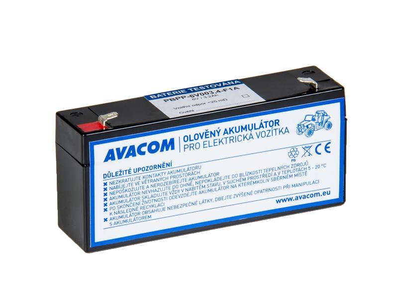Náhradní baterie (olověný akumulátor) 6V 3,2Ah do vozítka Peg Pérego F1