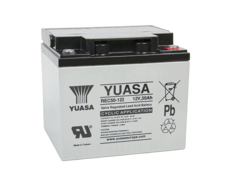 Yuasa 12V 50Ah olověný akumulátor DeepCycle M5 (REC50-12I)
