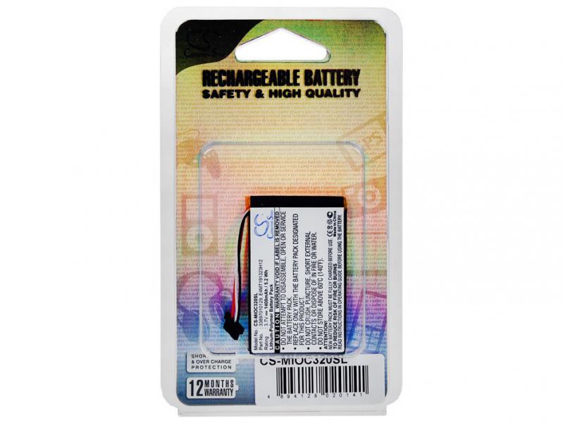 Baterie do navigace Mio C320, C520, C520t, C720, C810i Li-Pol 3,7V 1150mAh (náhrada 33897010129)