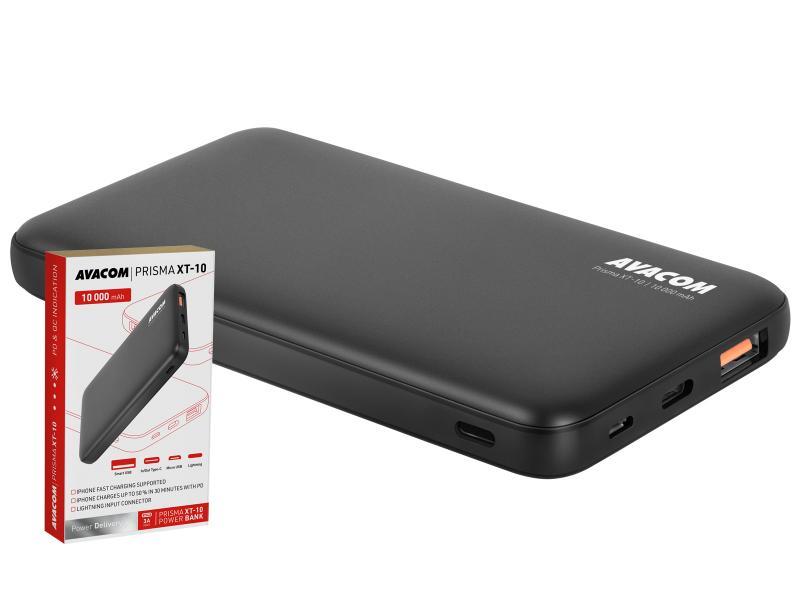 AVACOM externí baterie PRISMA XT-10, Li-Pol 10000mAh, USB-C, Lightning