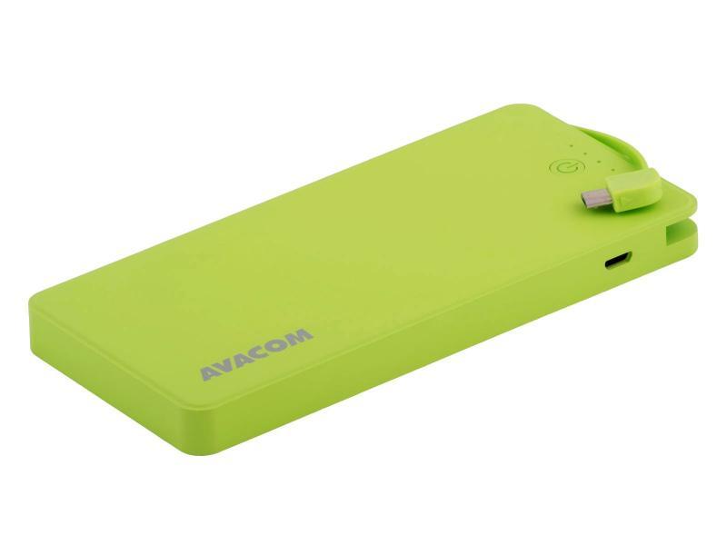 AVACOM externí baterie PWRB-8000G, Li-Pol články, kapacita 8000mAh, výstup 5V/2.1A+1A, barva světle zelená