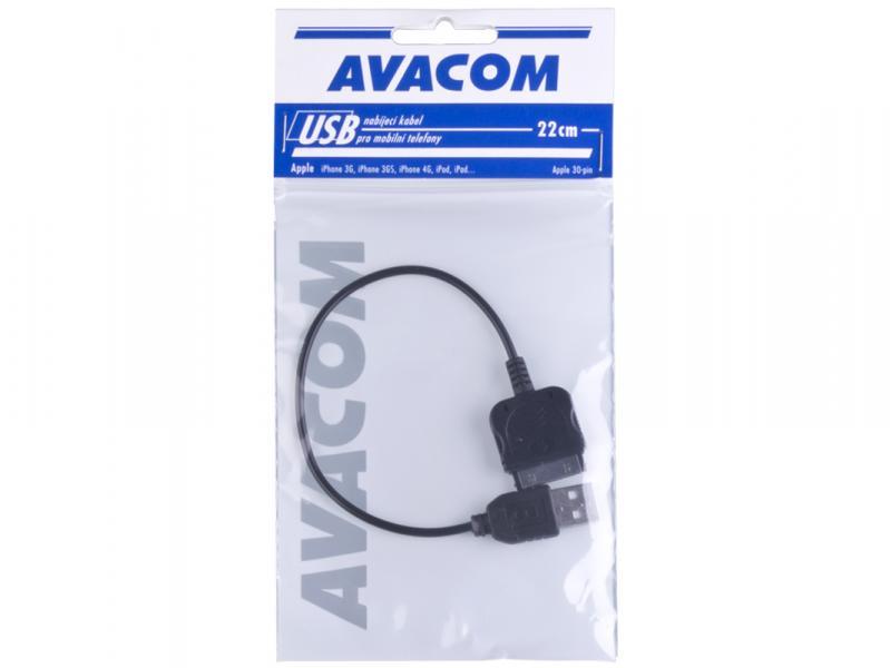 Nabíjecí USB kabel pro telefony Apple iPhone s konektorem 30pin (22cm)