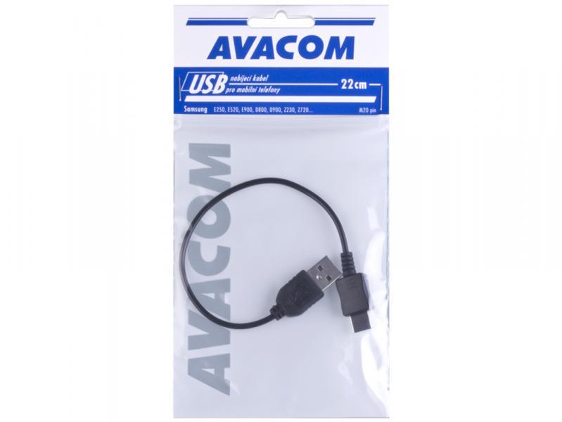 Nabíjecí USB kabel pro telefony Samsung s konektorem D800 (22cm)