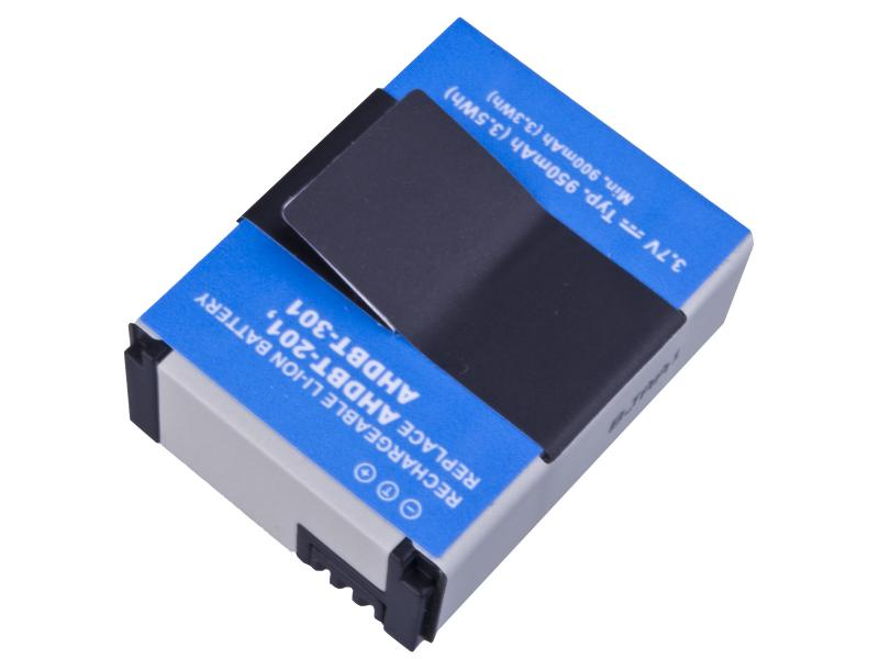 GoPro AHDBT-201, AHDBT-301 Li-Ion 3.7V 950mAh 3.5Wh