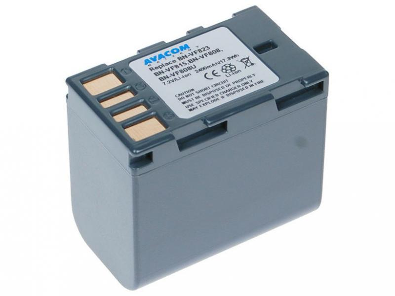 JVC BN-VF808, VF815, VF823 Li-Ion 7.2V 2400mAh 17.3Wh