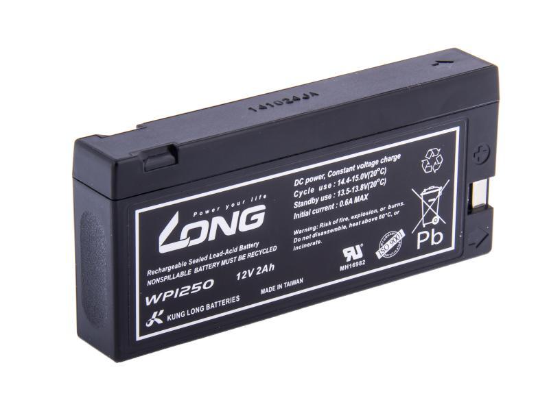 Long WP1250 12V 2Ah 24Wh olověný akumulátor pro profesionální videokamery