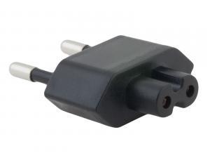 Zásuvkový konektor Typ C (EU) pro USB-C nabíječky, černá