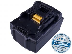 MAKITA BL 1830 Li-Ion 18V 4000mAh, články SAMSUNG s LED indikací