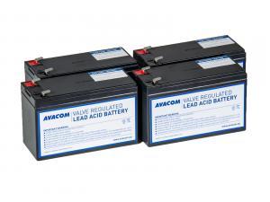Náhradní baterie pro UPS HP Compaq T2200 XR - kit (4ks baterií)