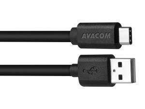 Datový a nabíjecí kabel USB - USB Type-C, 100cm, černá