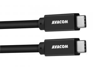 Datový a nabíjecí kabel USB Type-C - USB Type-C, 100cm, 60W E-Mark, černý
