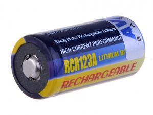 Nabíjecí fotobaterie CR123A, CR23, DL123A Li-Fe 3V 500mAh 1.5Wh