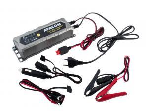 Automatická nabíječka AVACOM 6V/12V 4,5A pro olověné AGM/GEL akumulátory (1,2 - 120Ah)