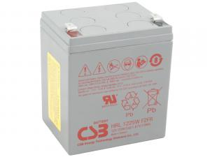 CSB 12V 5,5Ah olověný akumulátor HighRate (8 let) F2 (HRL1225WF2)