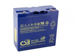 CSB 12V 24Ah olověný akumulátor DeepCycle AGM M5 (EVH12240)