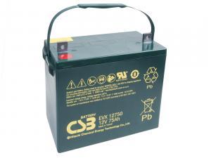 CSB 12V 75Ah olověný akumulátor DeepCycle AGM M6 (EVX12750)