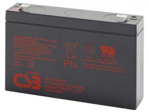 CSB 6V 9Ah olověný akumulátor HighRate F2 8-10 let (HRL634WF2)