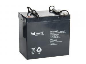 fgFORTE 12V 55Ah olověný akumulátor DeepCycle AGM M6 (FG12-55D)