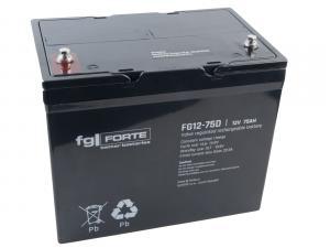 fgFORTE 12V 75Ah olověný akumulátor DeepCycle AGM M6 (FG12-75D)