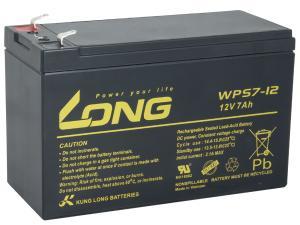 Long 12V 7Ah olověný akumulátor F1 (WPS7-12)
