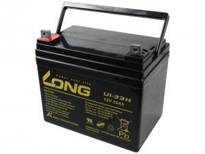 Long 12V 33Ah olověný akumulátor DeepCycle AGM F4 (U1-33H)